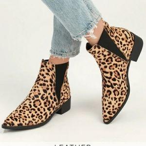 Steve Madden Jerry leopard print chelsea bootie